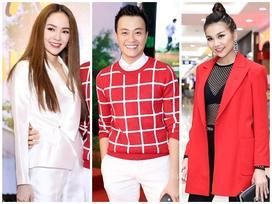 Thanh Hằng và Minh Hằng lộng lẫy đến chúc mừng phim mới của Lương Mạnh Hải