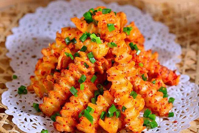 Cách làm món khoai tây cay ăn vặt vạn người mê-1