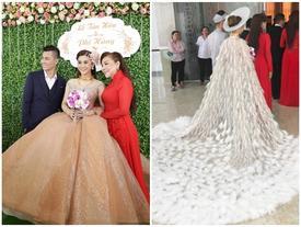 Thay 15 bộ váy từ khi bắt đầu đến lúc kết thúc đám cưới, Lâm Khánh Chi khiến hội chị em 'điêu đứng'