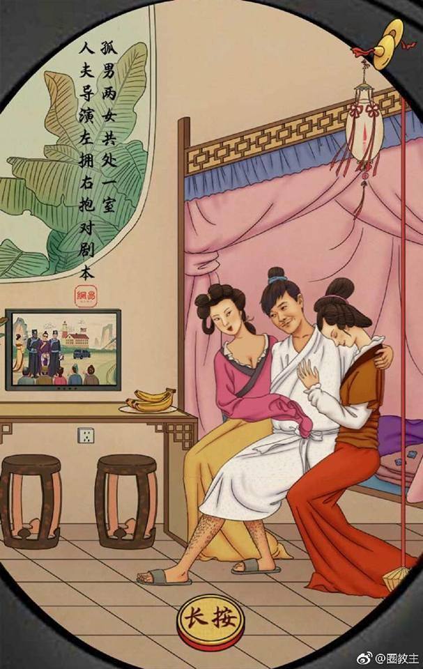 Tua chậm những scandal ồn ào nhất làng giải trí Hoa ngữ qua loạt tranh biếm họa-3