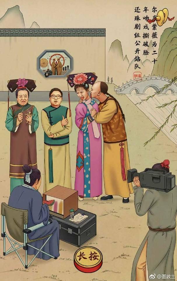 Tua chậm những scandal ồn ào nhất làng giải trí Hoa ngữ qua loạt tranh biếm họa-4
