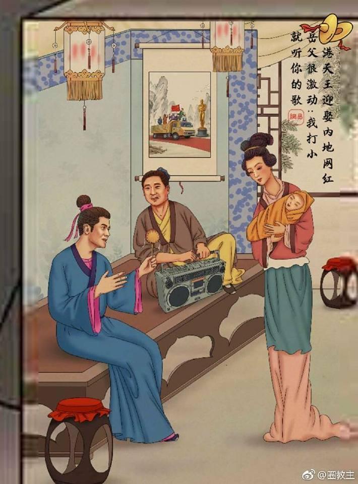 Tua chậm những scandal ồn ào nhất làng giải trí Hoa ngữ qua loạt tranh biếm họa-10