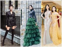 Hoàng Thùy quay ngoắt 180 độ từ thời trang 'lạc quẻ' sang phong cách hoa hậu đằm thắm