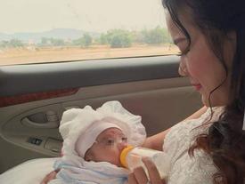 Rớt nước mắt với tâm sự của cô dâu bế con 1 tháng trên xe hoa về nhà chồng
