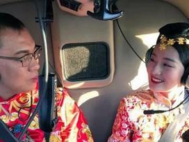 Chú rể Trung Quốc 'chơi trội' thuê trực thăng đón dâu