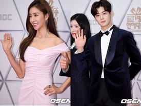 Sao 'Ngôi nhà hạnh phúc' khoe vai trần, Dara già chát trên thảm đỏ 'MBC Entertainment Awards'
