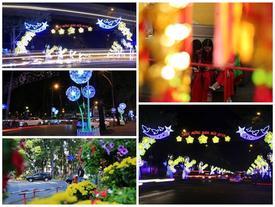 Đường phố trung tâm TPHCM rực rỡ chào đón năm mới
