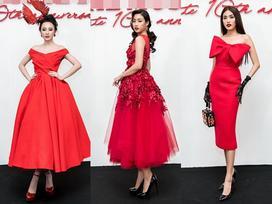 Đỗ Mỹ Linh già chát - Angela Phương Trinh đội cả 'tổ chim' lên đầu nổi bật nhất thảm đỏ