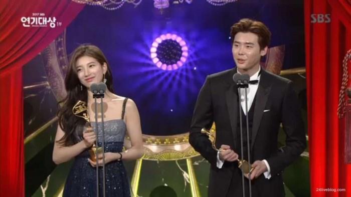 Choáng khi Suzy - Lee Jong Suk nhận giải diễn viên xuất sắc đỉnh cao và cặp đôi đẹp nhất SBS Drama Awards 2017-8