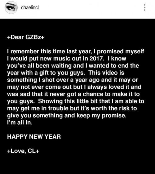 YG đã làm gì cả năm qua mà khiến CL phải tự tung MV lên… Instagram thế này?-1