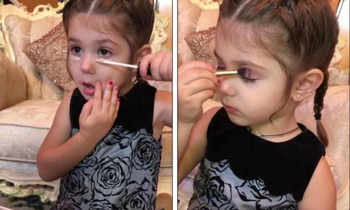 Bé gái 3 tuổi trang điểm chuyên nghiệp gây tranh cãi trên mạng xã hội-2