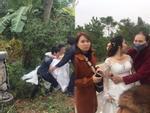 Nghệ An: Xe hoa lật trên đường đi đưa dâu, họ hàng nháo nhác cứu cô dâu chú rể bên trong