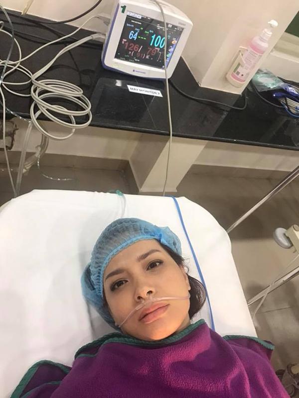 Cựu người mẫu Thuý Hạnh đã phẫu thuật cắt bỏ khối u-1