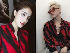 Kỳ Duyên và Sơn Tùng vừa có màn đụng hàng 'bất chấp giới tính' khi cùng diện một mẫu áo dành cho nữ
