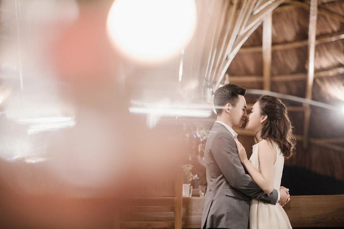 Trọn bộ ảnh cưới ngập cảnh khóa môi của nàng hậu Trần Tố Như và hot boy cảnh sát-7