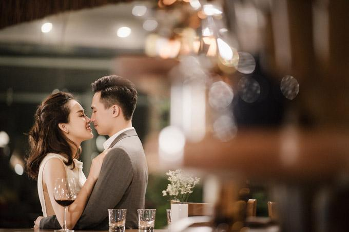 Trọn bộ ảnh cưới ngập cảnh khóa môi của nàng hậu Trần Tố Như và hot boy cảnh sát-5