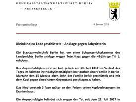 Đức: Người giúp việc đến từ Việt Nam rung lắc em bé gây tử vong