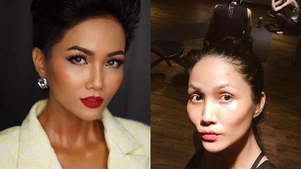 Mặt mộc của Tân Hoa hậu Hoàn vũ Việt Nam 2017-11