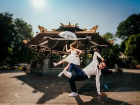 Cô dâu đi giầy thể thao nhảy hip hop cực sung trong đám cưới