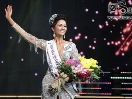 Khởi đầu 2018, H'Hen Nie chiếm spotlight khi đăng quang Hoa hậu Hoàn vũ Việt Nam 2017
