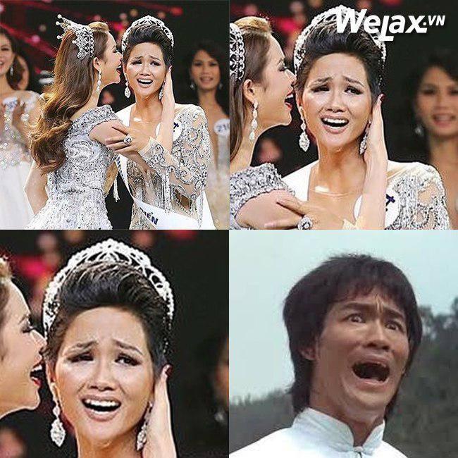Đăng quang Hoa hậu Hoàn vũ, H'Hen Niê vượt mặt Hoàng Thuỳ thành thánh ảnh chế-2