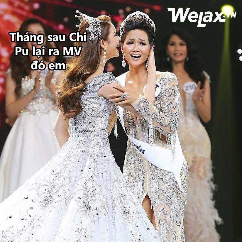 Đăng quang Hoa hậu Hoàn vũ, H'Hen Niê vượt mặt Hoàng Thuỳ thành thánh ảnh chế-4
