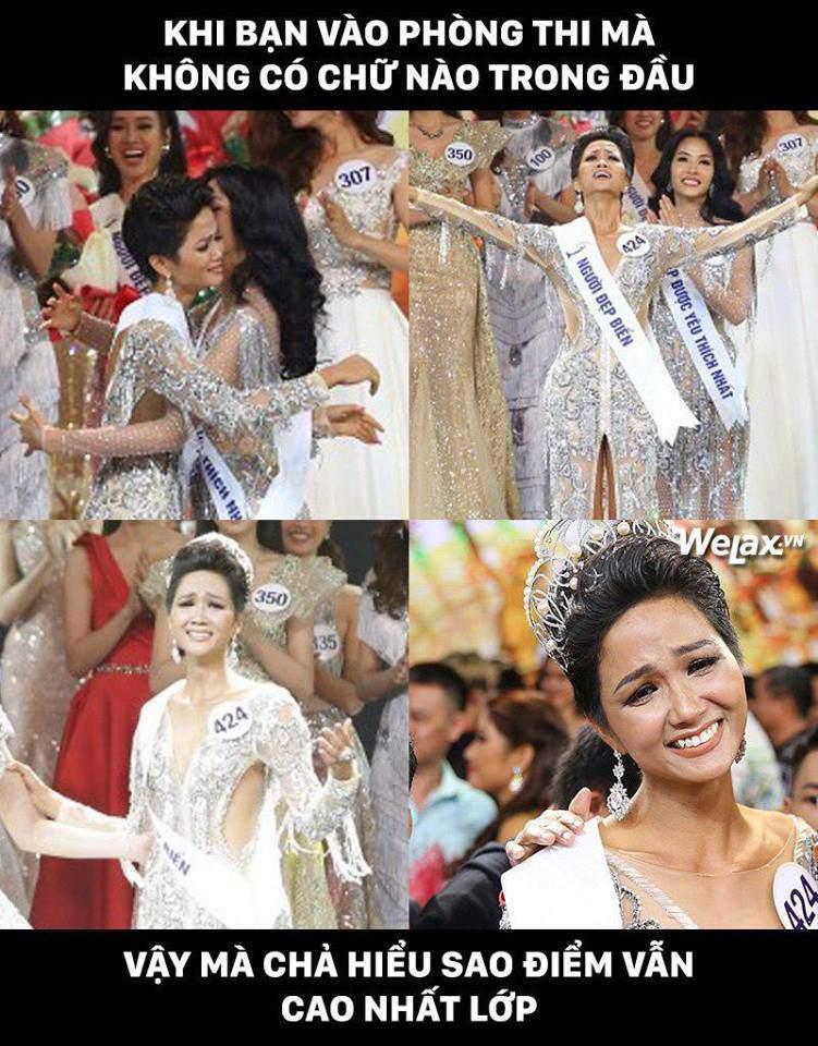Đăng quang Hoa hậu Hoàn vũ, H'Hen Niê vượt mặt Hoàng Thuỳ thành thánh ảnh chế-5