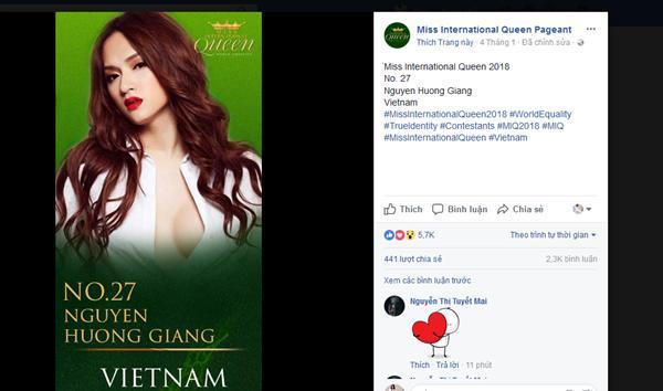Hương Giang Idol xác nhận dự thi Hoa hậu Chuyển giới Quốc tế 2018-1