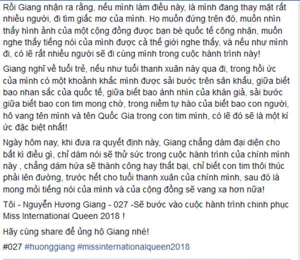 Hương Giang Idol xác nhận dự thi Hoa hậu Chuyển giới Quốc tế 2018-3