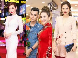 Lâm Khánh Chi diện áo dài đỏ rực nhưng 'lạc quẻ' ở sự kiện