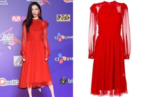 Bóc giá loạt váy áo lộng lẫy trên thảm đỏ của dàn mỹ nhân xứ Hàn-4