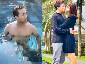 Tin sao Việt: Trấn Thành khoe hình bán nude khi đi nghỉ cùng bà xã Hari Won