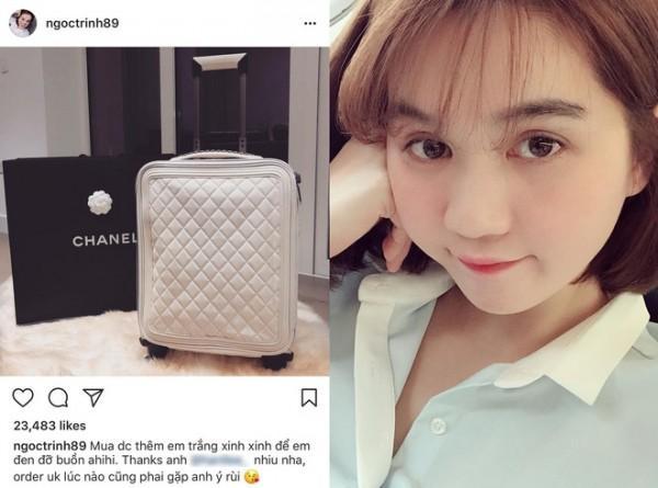 Ngọc Trinh chi 160 triệu đồng tậu vali cực chất của Chanel-1