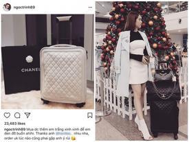 Ngọc Trinh chi 160 triệu đồng tậu vali cực chất của Chanel