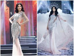 Chẳng ai ngờ thiết kế váy giúp Hoàng Thùy chinh phục ngôi Á hậu 1 còn 'đụng hàng' cả siêu mẫu Lukkade