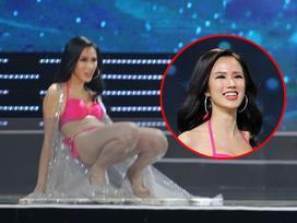Vũ Tuyết Trang nói về 'cú vồ ếch' tại Hoa hậu Hoàn vũ: 'Tôi vừa buồn cười, vừa xấu hổ'