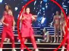 Video: Hoàng Thùy ngã rất đau trong phần trình diễn bikini đêm chung kết Hoa hậu Hoàn Vũ