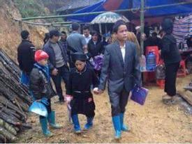 Cảm động đám cưới ngày mưa rét của cặp vợ chồng nghèo ở Lạng Sơn