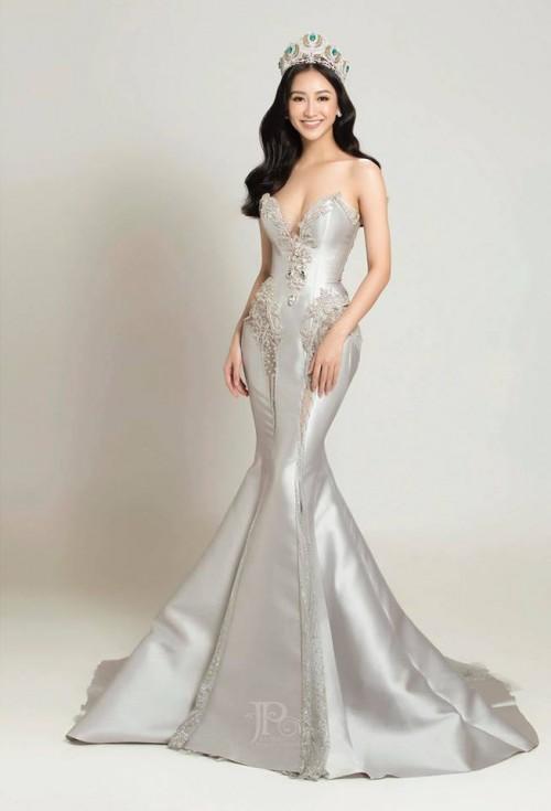 Tường Linh khiến fan lo lắng khi liên tục chọn váy cũ của Hà Hồ để lên đường thi thố nhan sắc-6