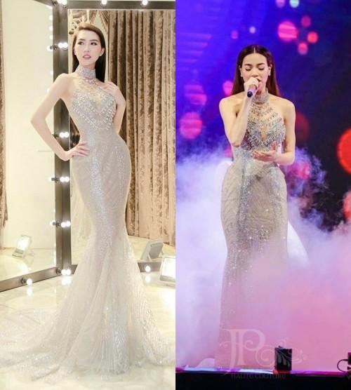 Tường Linh khiến fan lo lắng khi liên tục chọn váy cũ của Hà Hồ để lên đường thi thố nhan sắc-7