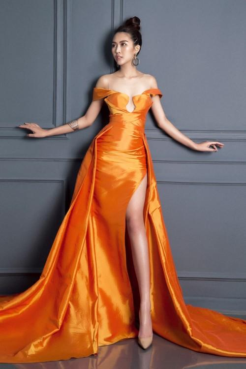 Tường Linh khiến fan lo lắng khi liên tục chọn váy cũ của Hà Hồ để lên đường thi thố nhan sắc-8