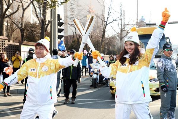 Thanh Hằng đại diện Việt Nam rước đuốc tại Thế Vận Hội mùa đông 2018-11