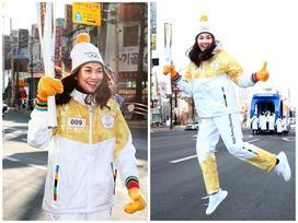 Thanh Hằng đại diện Việt Nam rước đuốc tại Thế Vận Hội mùa đông 2018
