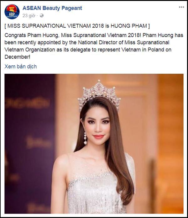 Rộ thông tin hoa hậu Phạm Hương đại diện Việt Nam thi Miss Supranational 2018-3