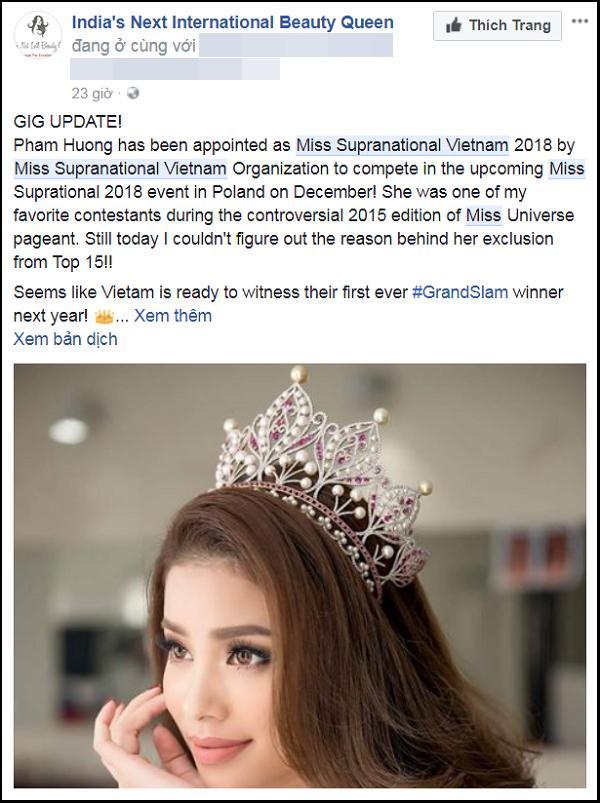 Rộ thông tin hoa hậu Phạm Hương đại diện Việt Nam thi Miss Supranational 2018-4