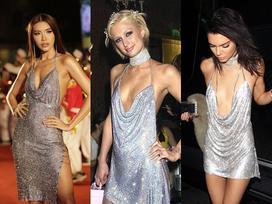 Minh Tú quá táo bạo với đầm xẻ hiểm hóc, giống y chang Kendall Jenner và Paris Hilton