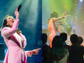 Thông báo khỏi bệnh, Mỹ Tâm 'quẩy' hết mình cùng fan nhí trong 'vũ điệu say rượu'