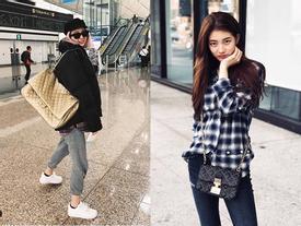 Dát hàng hiệu tinh tế, Suzy - Irene nổi bật nhất street style sao Hàn tuần qua