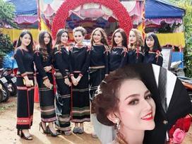 Xuất hiện thêm hình ảnh cô dâu và nhóm thiếu nữ Ê Đê 'quẩy' tưng bừng trong đám cưới