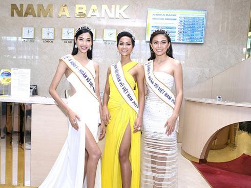 Tân hoa hậu H'Hen Niê tham quan hội sở Nam A Bank